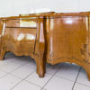 Rare 1920s Curved Art Deco Sideboard with Floral Motivs 8