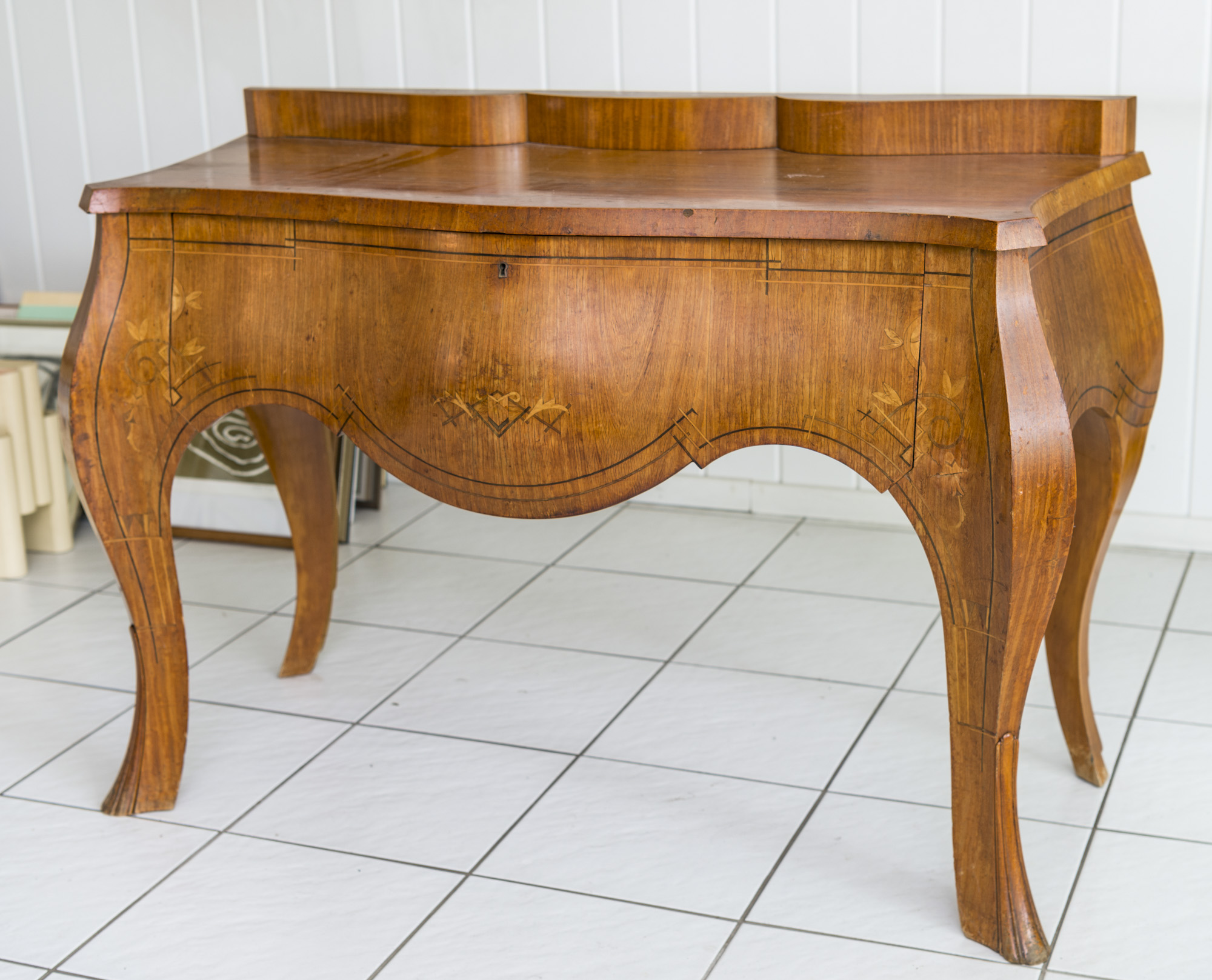 Peachy French Art Deco Console Table Made Of Cherry Wood Bralicious Painted Fabric Chair Ideas Braliciousco