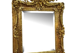 Original Florentine Mirror Gilt Frame with a Boy Figure Crowning