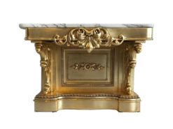 Gilt Baroque Console Table with Marble Top, Original Baroque Furniture, Gilt Console Table, Gilt Furniture, 18th Century, Marble Top