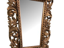 Gilded Florentine Wall Mirror with Leaf and Floral Ornamentation, Baroque Mirror, Original Baroque, Florantine Mirror, Wall Mirror, Gilt Mirror