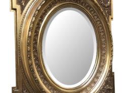 Original Florentine Mirror Acanthus Leaf Carving, Gold, Biedermeier Mirror, Original Biedermeier, Acanthus Leaf Mirror, Gilt Mirror