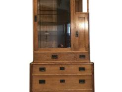 Rare Art Nouveau Showcase Bookcase Glass Cabinet, Jugendstil Showcase, Jugendstil Bookcase, Antique Carbinet, Art Nouveau Bookcase