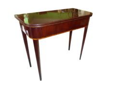 Biedermeier Console Table Made of Mahogany with Poplar and Maple Veneer, Biedermeier Wall Table, Antique Console Table, Antique Wall Table