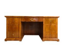 Original Antique Biedermeier Desk Writing Furniture Made of Cherry, Antique Desk, Cherry Wood Desk, Brass Details, Original Biedermeier Furniture