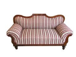 1850s Restored Biedermeier Sofa Walnut, New Fabric, Original Biedermeier Sofa, 19th Century, Walnut Sofa, Biedermeier Furniture
