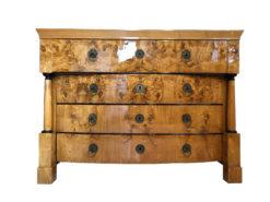 Restored Empire / Biedermeier Chest of Drawers Original Commode, Biedermeier Dresser, Original Empire Dresser, Walnut Commode, Antique Dresser