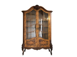 Brown Glass Cabinet or Bookcase from circa 1895, Furniture from Austria, Original Antique Cabinet, Antique Bookcase, Antique Austria Furniture