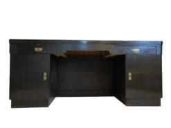 Black Art Nouveau Oak Wood Desk from 1925, Original Antique Desk, Art Nouveau Secretary, Oak Wood Secretary, Black Desk, Black Secretary