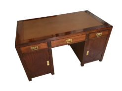Small Original Art Nouveau Desk Secretary Made of Cherrywood, Jugendstil, Antique Desk, Original Art Nouveau Furniture, Cherrywood Secretary, Leather Top