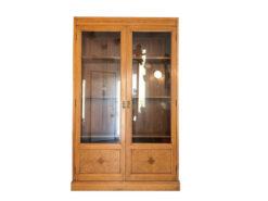 Art Nouveau Showcase Cabinet Bookcase or Office Cabinet, Art Nouveau Display Case, Antique Bookcase, Original Art Nouveau Furniture, Inlay Works