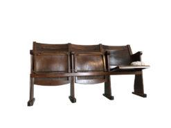Vintage Cinema Chair Set Three-Seat Folding Chair, Bauhaus Furniture, Vintage Furniture, Original Cinema Chair, Folding Cinema Chair