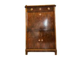 Gorgeous Classicism Secretary Tabernacle, circa 1910, Neoclassical, Burl Wood, Original Classicism Furniture, Antique Secretary