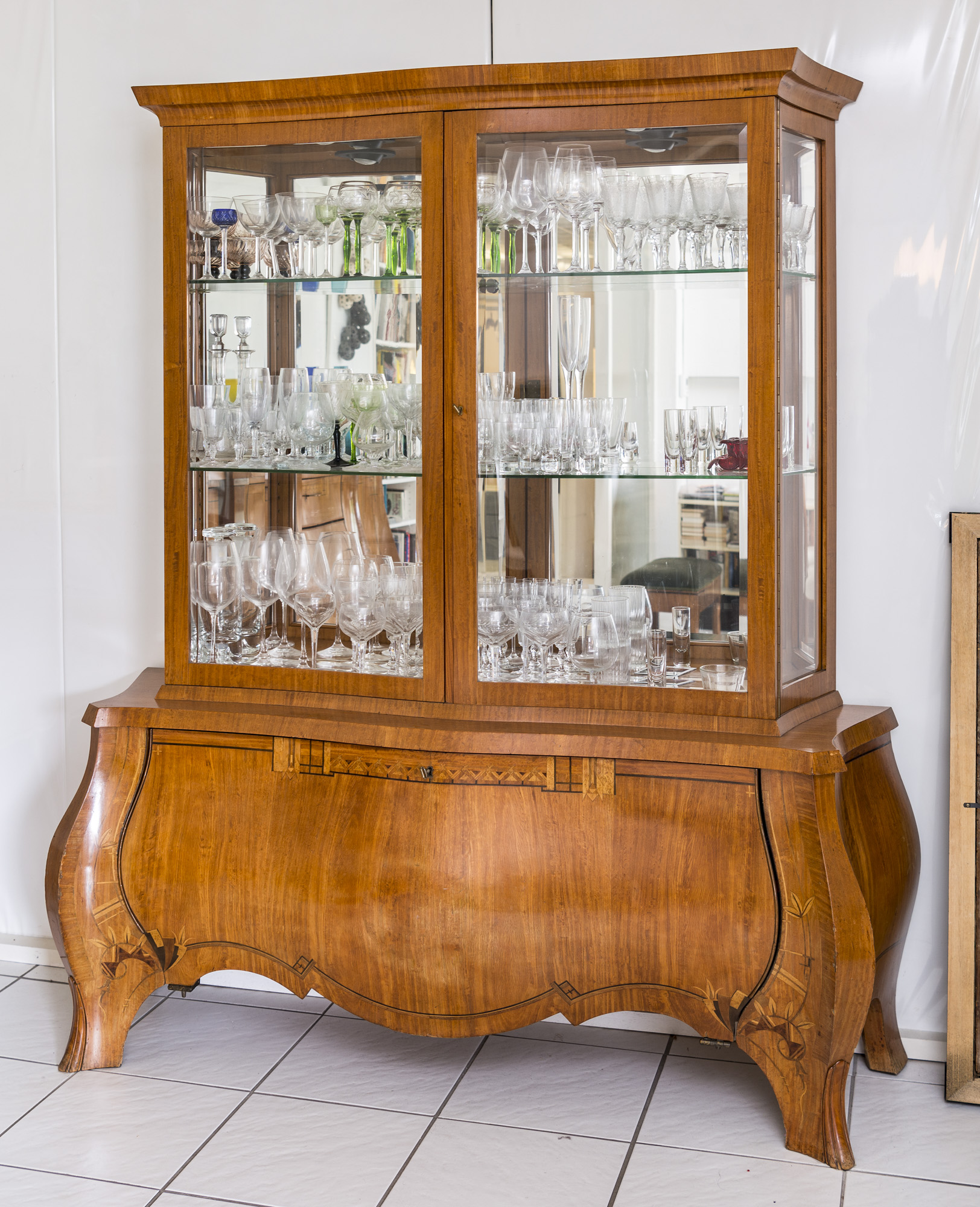 1920s Art Deco Vitrine Or Showcase Cabinet From France
