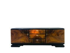 1920s Art Deco Burl Wood Lowboard from France, Sideboard, Luxury Furniture, Design Furniture, Art Deco Furniture, Restoration, 1920s