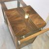 Art Deco Bar Cart Walnut Wood 1