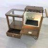 Art Deco Bar Cart Walnut Wood 3