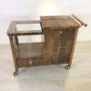 Art Deco Bar Cart Walnut Wood 10