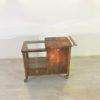 Art Deco Bar Cart Walnut Wood 9
