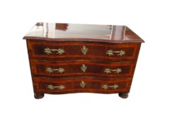 Walnut Wood Commode from the Baroque Era, Baroque Chest of Drawers, Antique Commode, Antique Chest of Drawers, Original Baroque Furniture