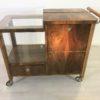 Art Deco Bar Cart Walnut Wood 8