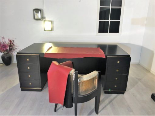 Art Deco Desk & Office Cabinet by Christian Krass France 1930s, Art Deco Office furniture, french furniture, design furniture, design desk, art deco cabinet