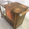 Art Deco Bar Cart Walnut Wood 5