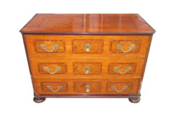 1790s Baroque Commode Made of Oak and Mahogany, Baroque Chest of Drawers, Antique Commode, Antique Chest of Drawers, Original Baroque