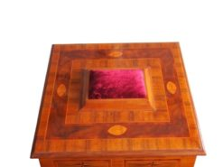 Handmade Baroque Casket from circa 2000 Original Materials, Antique Style Casket, Red Velvet, Baroque Style, Ebony Casket
