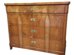 19th Century Biedermeier Cherry Chest of Drawers from Germany, Biedermeier Commode, Antique Commode, Antique Chest Of Crawers, Cherry Wood Commode