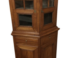 Biedermeier Cherry Tree Glass Corner Cabinet from 1819, Biedermeier Corner Display Cabinet, Antique Corner Cabinet, Original Biedermeier