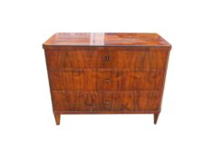 Walnut Wood Commode from the Biedermeier Era, Biedermeier Chest of Drawers, Antique Commode, Original Biedermeier Furniture