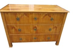 1830s Large Biedermeier Commode, Biedermeier Chest Of Drawers, Antique Commode, Antique Chest of Drawers, Fruitwood Commode, Original Biedermeier