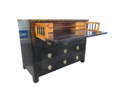 1820s Secretaire Commode from Austria, Antiquw Chest of Drawers, Antique Commode, Funture Paintings, Funiture from Austria, Black Shellac