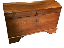 1822 Biedermeier Oakwood Chest with Brass Handle