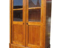 Biedermeier Bookcase from circa 1830 in Cherrywood, Biedermeier Vitrine, Biedermeier Display Cabinet, Antique Bookcase, Antique Cabinet