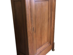 1855 Biedermeier Softwood Cabinet from Germany, Biedermeier Cupboard, Biedermeier Wardrobe, Antique Cabinet, Original Biedermeier