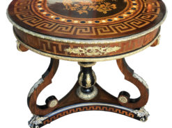 Empire Salon Table with Beautiful Inlays and Finest Brass Applications, Epire Sidetable, Antique Salon Table, Table with Inlay Works