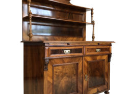 1870s Historicism Buffet with a Walnut Veneer, Gründerzeit Buffet, Antique Buffet, Original Historicism Furniture, Grunderzeit Furniture