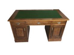 Jugendstil Oak Wood Desk with Metal Handles, Art Nouveau Desk, Art Nouveau Secretary, Jugendstil Secretary, Antique Desk, Antique Secretary
