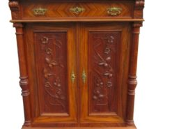 Art Nouveau Vertiko Made of Walnut Wood circa 1890, Art Nouveau Commode, Antique Vertiko, Art Nouveau Cabinet, Antique Cabinet