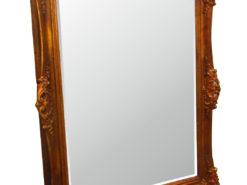 Antique Jugendstil Art Deco Wall Mirror with Wood Carvings in Bronze Gold Color, Jugendstil Mirror, Original Jugendstil, Art Deco Decorations