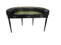 Napoleon III Style Lady's Desk in High Gloss Black, Napoleon Furniture, Napoleon Secretary, Napoleon Writing Table, Black Desk
