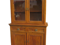Late Biedermeier Kitchen Cabinet Cherry Wood 1870s, Biedermeier Cabinet, Antique Kitchen Cabinet, Biedermeier Vitrine, Antique Vitrine
