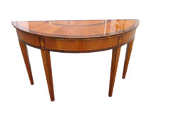 Walnut and Cherry Tree Wood Console from the Biedermeier Period, Biedermeier Sidetable, Original Biedermeier Furniture, Antique Console