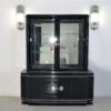 High Gloss Black Art Deco Vitrine Cabinet 4