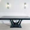 High Gloss Black Art Deco Dining Table 2
