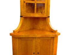 Biedermeier Corner Cupboard, circa 1830, Biedermeier Cupboard, Biedermeier Warddrobe, Antique Corner Cupboard, Biedermeier Vitrine