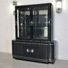 High Gloss Black Art Deco Vitrine Cabinet