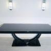 Adolf Loos Art Deco Dining Table High Gloss Black 5